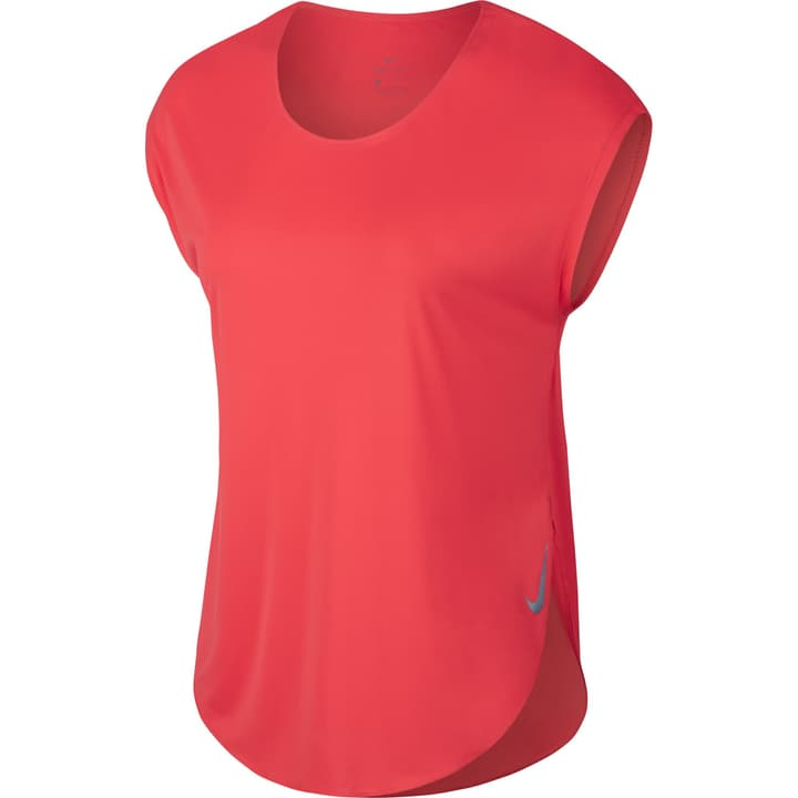 Mile Short-Sleeve Running Top Shirt pour femme Nike 470176700357 Couleur corail Taille S Photo no. 1