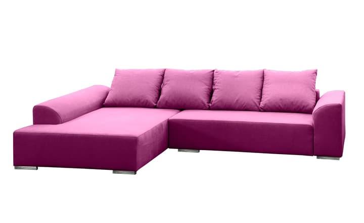 HELLER Ecksofa 405744750123 Grösse B: 274.0 cm x T: 196.0 cm x H: 83.0 cm Farbe Violett Bild Nr. 1