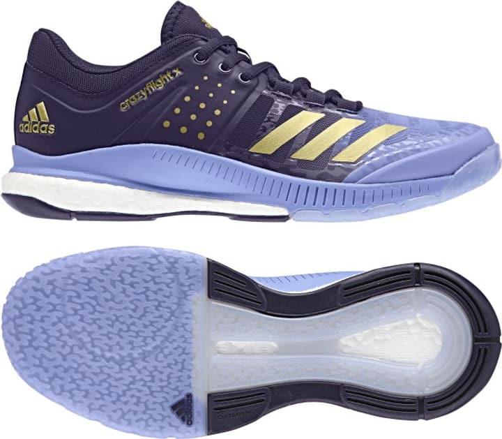 Crazyflight X Chaussures d'intérieur pour femme Adidas 461710737040 Couleur bleu Taille 37 Photo no. 1