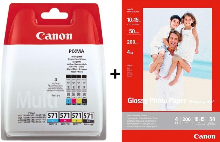CLI-571 Multipack + GP501 Fotopapier Tintenpatrone Canon 798557900000 Bild Nr. 1