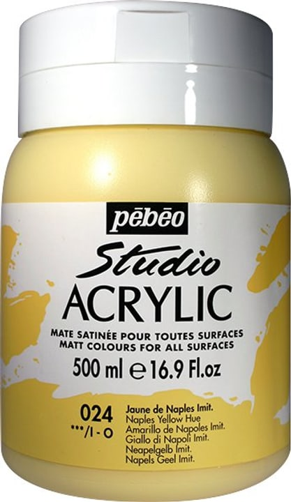 Pébéo High Viscosity Studio 500ml Pebeo 663534271024 Couleur Jaune de Naples Photo no. 1