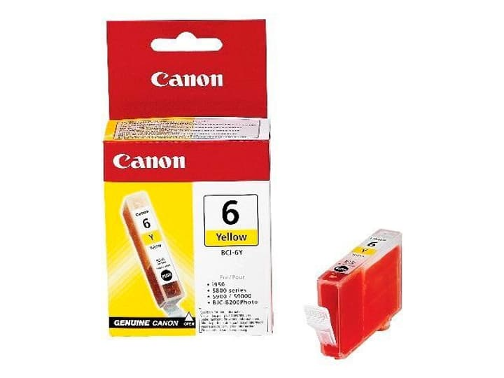 BCI-6 cartouche d'encre yellow Cartouche d'encre Canon 797432300000 Photo no. 1