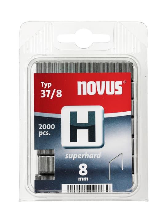 Graffe in filo fino H Typ 37/8 dure NOVUS 601258200000 Taglio 8 mm superhart / 2'000x  N. figura 1