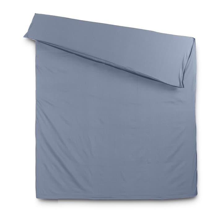 KOS Satin-Duvetbezug 376026468904 Farbe Rauchblau Grösse L: 210.0 cm x B: 160.0 cm Bild Nr. 1