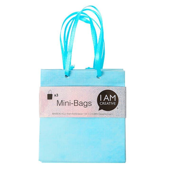 Minibags, blau, 8 x 8.9 x 4 cm, 3 Stk. I AM CREATIVE 666211300000 Bild Nr. 1