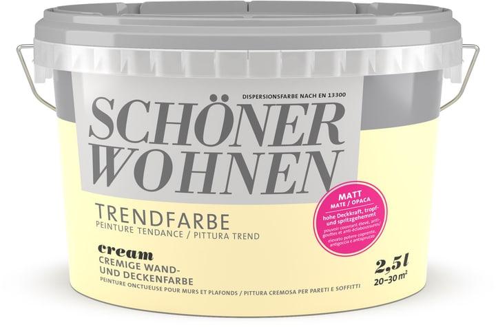 Couleur tendance mate Cream 2.5 l Schöner Wohnen 660907700000 Couleur Cream Contenu 2.5 l Photo no. 1