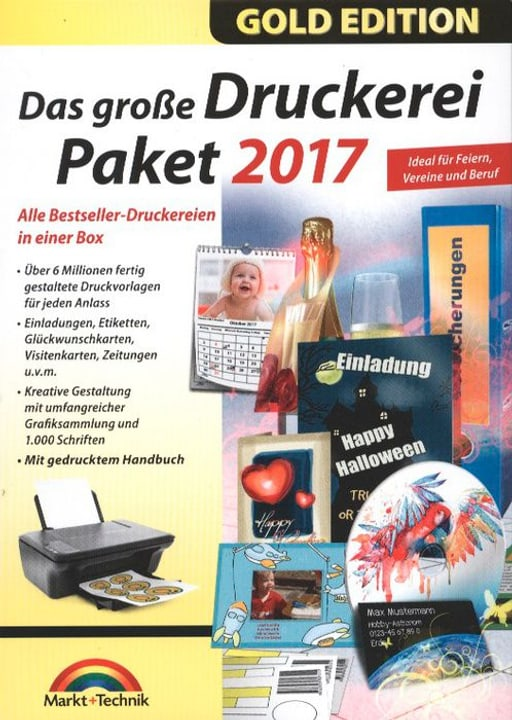 PC Gold Edition: Das grosse Druckerei Paket 2017 Physique (Box) 785300122232 Photo no. 1