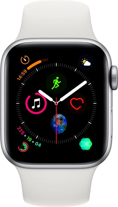 Watch Serie 4 40mm GPS argent Aluminum White Sport Band Smartwatch Apple 798455200000 Photo no. 1