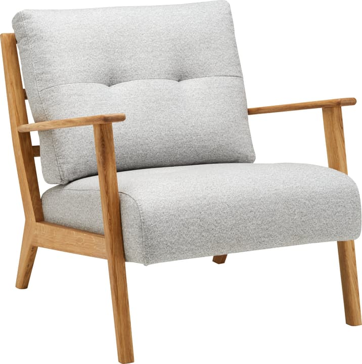 FAUST Sessel 402467100000 Grösse B: 76.0 cm x T: 80.0 cm x H: 78.0 cm Farbe Hellgrau Bild Nr. 1