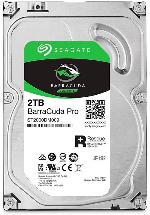 "BarraCuda Pro SATA 3.5"" 2 TB Disque Dur Interne HDD Seagate 785300145854 Photo no. 1"