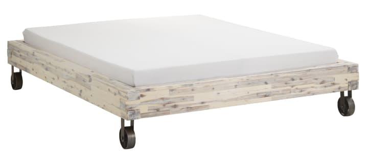 CORELLE Lit 404446900000 Couleur Acacia lasuré blanc Dimensions L: 160.0 cm x P: 200.0 cm Photo no. 1