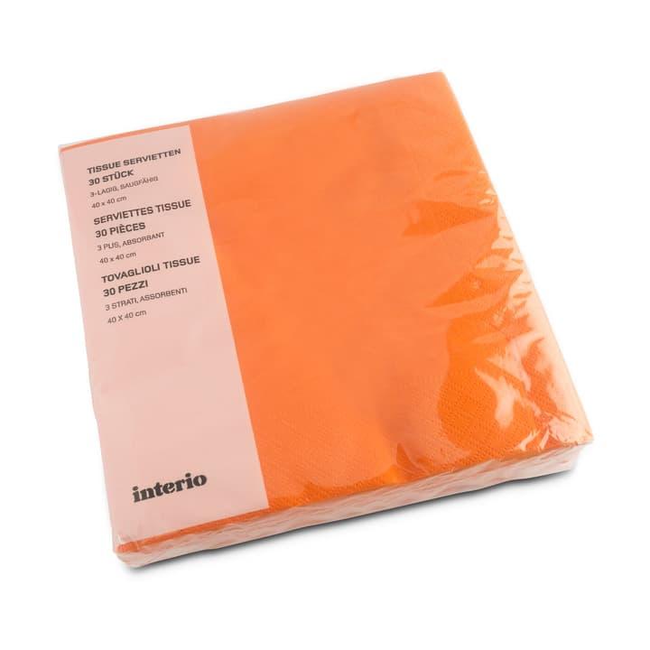 PAPER Papierservietten 393002174494 Grösse B: 20.0 cm x T: 20.0 cm x H: 4.0 cm Farbe Orange Bild Nr. 1