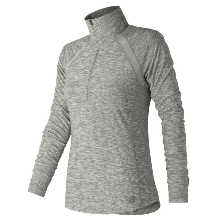 Anticipate Half Zip Pull pour femme New Balance 470183400481 Couleur gris claire Taille M Photo no. 1