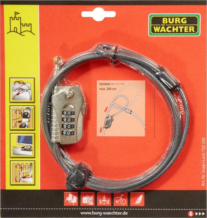 Câble-antivol 720 200 Snap+Lock Burg-Wächter 614060700000 Photo no. 1