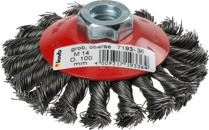 AGGRESSO-FLEX ® Spazzola conica, ø 100 mm AGGRESSO-FLEX® Spazzola conica, filo di acciaio, sfusa cartone di deposito kwb 610523600000 N. figura 1