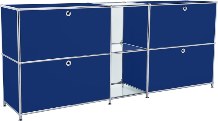 FLEXCUBE Buffet 401814320240 Dimensions L: 189.0 cm x P: 40.0 cm x H: 80.5 cm Couleur Bleu Photo no. 1