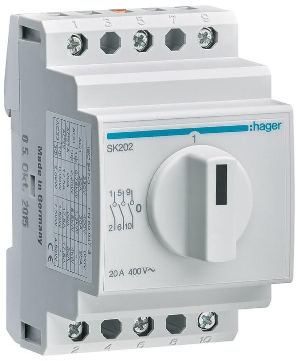 Drehschalter 3 polig, 20 A 0-I für DIN-Montage 612169500000 Bild Nr. 1