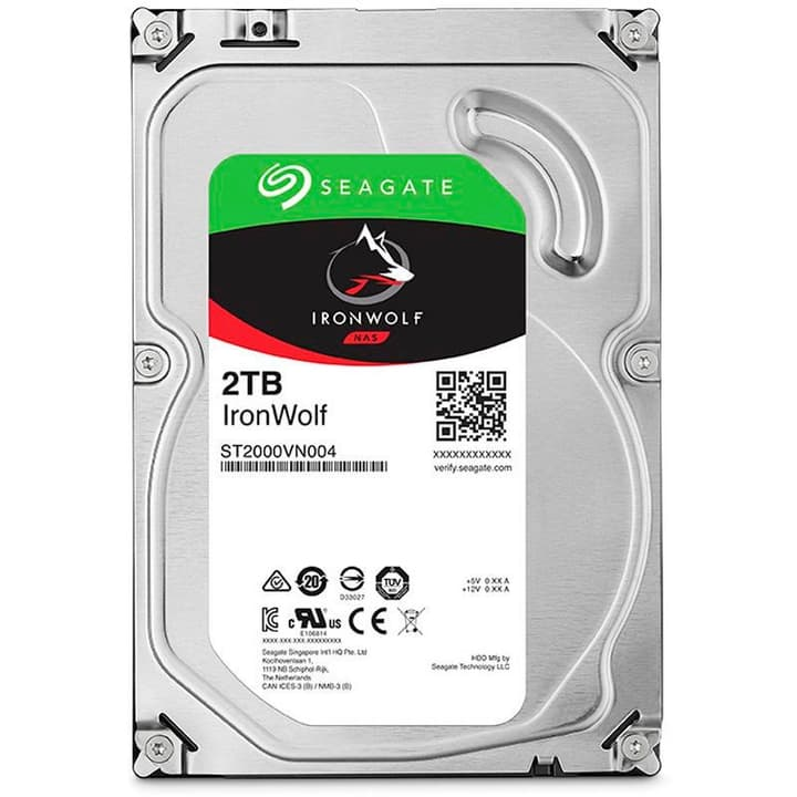 "IronWolf 2To disque dur interne SATA 3.5"" HDD NAS Seagate 785300126748 Photo no. 1"