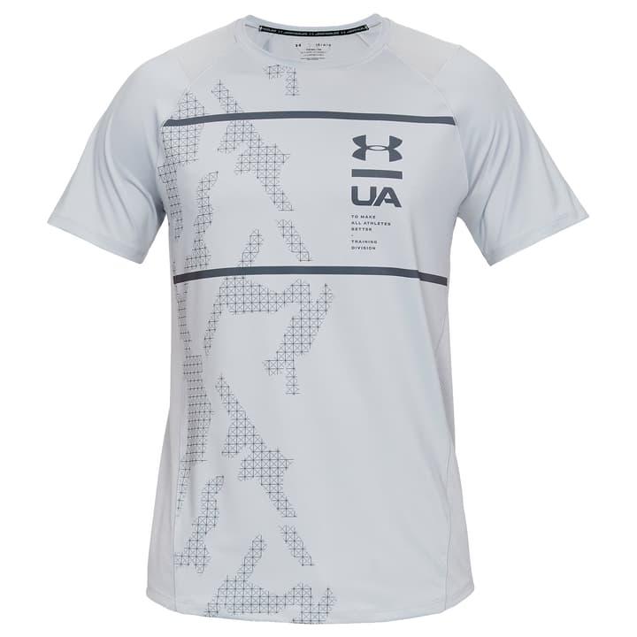 MK1 SS Printed Shirt pour homme Under Armour 464944200380 Couleur gris Taille S Photo no. 1