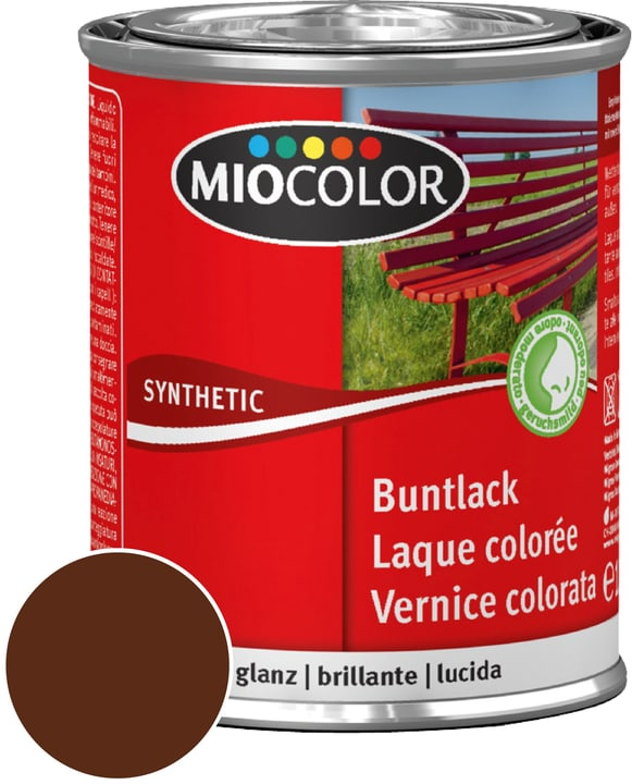 Synthetic Vernice colorata lucida Marrone cioccolato 750 ml Miocolor 661432400000 Contenuto 750.0 ml Colore Marrone cioccolato N. figura 1
