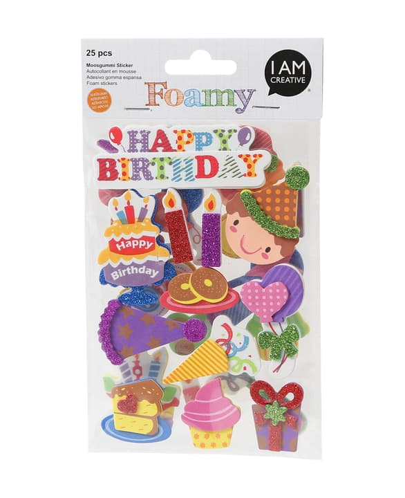 FOAMY, 3D-sticker party, 25 pcs 666782400000 Photo no. 1