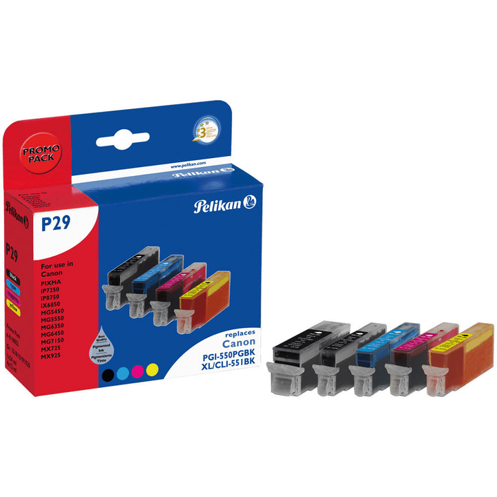 P29 CLI-551  Multipack Cartouche d'encre Pelikan 795842800000 Photo no. 1
