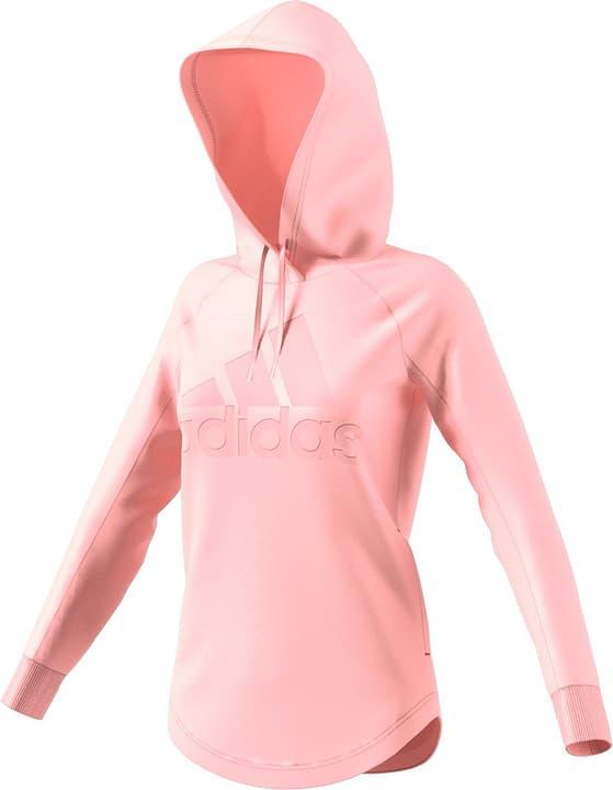 Womens Sport ID Hoodie Felpa con cappuccio da donna Adidas 462391200552 Colore salmone Taglie L N. figura 1