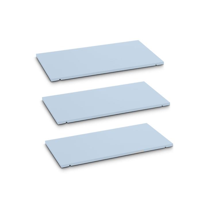 SEVEN Tablar 3er-Set 60cm Edition Interio 362215600000 Grösse B: 60.0 cm x T: 1.4 cm x H: 35.5 cm Farbe Blau Bild Nr. 1