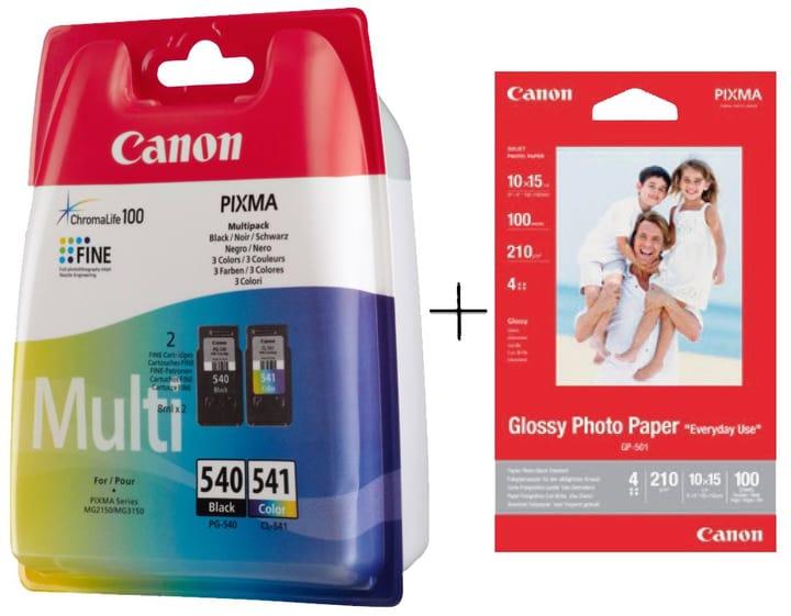 PG540/CL541 Multipack Tintenpatrone + GP-501 Fotopapier Canon 798547300000 Bild Nr. 1