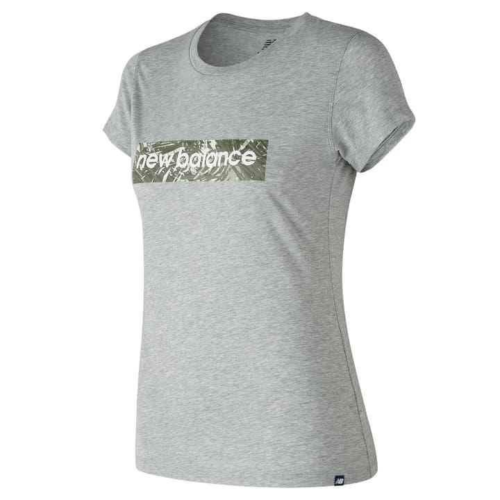 W Essentials Palm Camo Tee T-shirt pour femme New Balance 462382900580 Couleur gris Taille L Photo no. 1