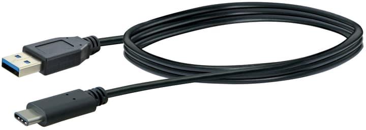 Cable USB 3.1 1m noir USB 3.0 typeA / USB 3.1 typeC Schwaiger 613183700000 Photo no. 1