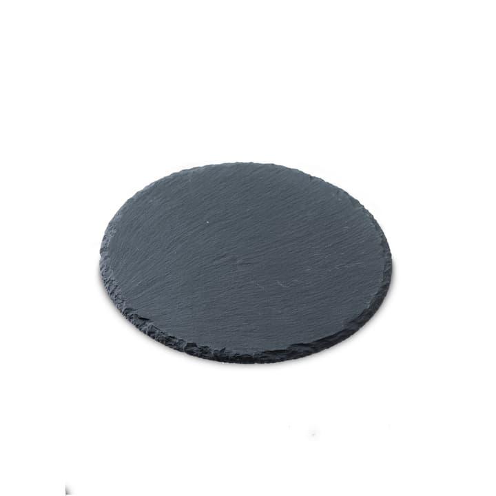 SCHIEFERPLATTE Plaque en ardoise 396000557395 Dimensions L: 20.0 cm x P: 20.0 cm x H: 0.4 cm Couleur Noir Photo no. 1