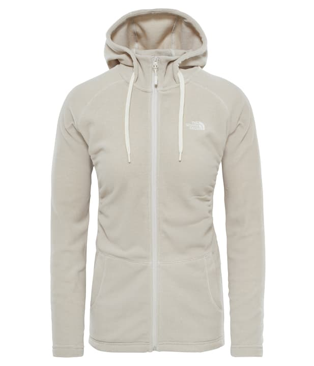 Mezzeluna Full Zip Hoodie Veste en polaire pour femme The North Face 461048400313 Couleur écru 2 Taille S Photo no. 1
