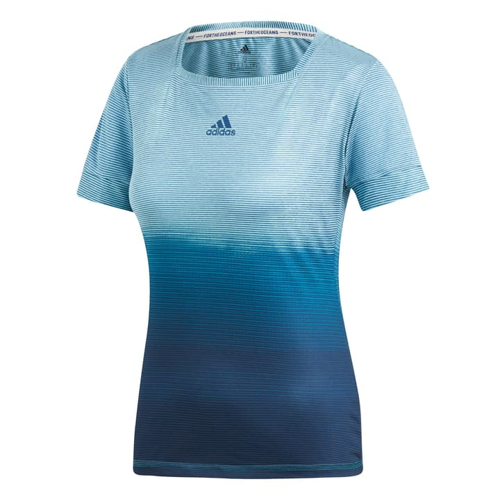 Parley Tee Shirt pour femme Adidas 473229100265 Colore petrolio Taglie XS N. figura 1