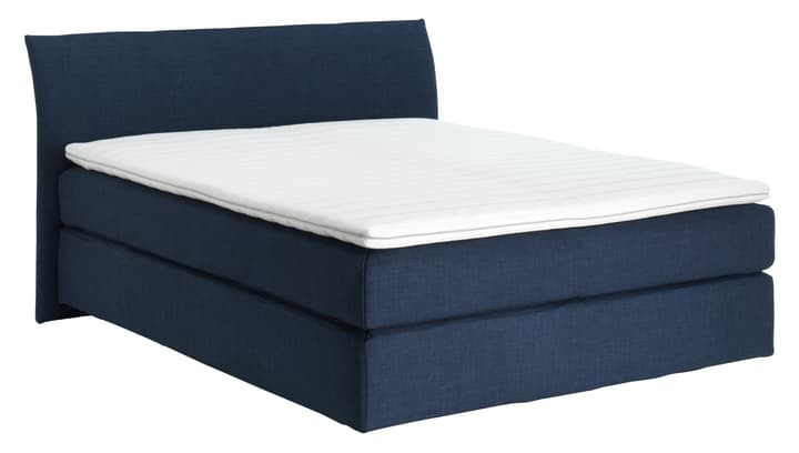 NAVIER Lit Boxspring 403472300000 Couleur Bleu marine Dimensions L: 160.0 cm x P: 200.0 cm Photo no. 1
