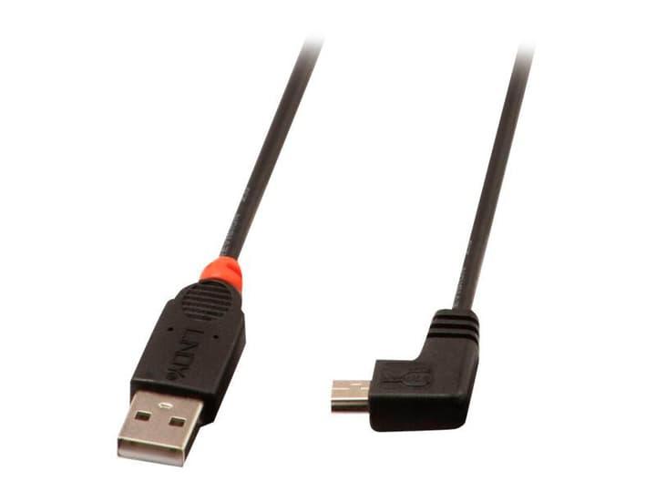 USB 2.0 Kabel Typ A/Mini-B 90°, 0.5m Kabel LINDY 785300141566 Bild Nr. 1