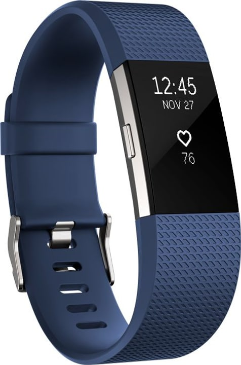 Charge 2 Blue / Silver Small Fitbit 785300131186 Bild Nr. 1