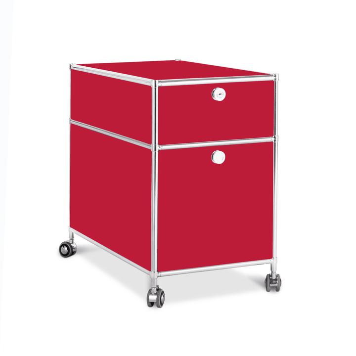 QUADRO Cassettiera 364241300030 Dimensioni L: 42.0 cm x P: 77.0 cm x A: 67.5 cm Colore Rosso N. figura 1