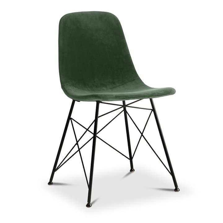 SEDIA Chaise 366183300000 Dimensions L: 45.0 cm x P: 41.5 cm x H: 84.0 cm Couleur Vert foncé Photo no. 1