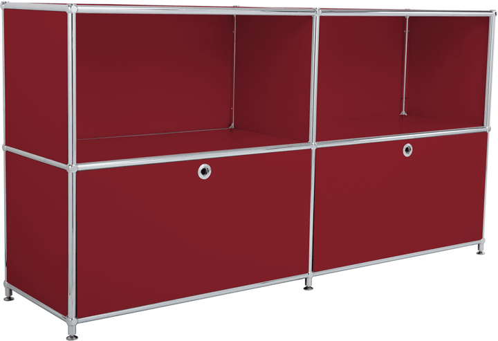 FLEXCUBE Sideboard 401809000030 Grösse B: 152.0 cm x T: 40.0 cm x H: 80.5 cm Farbe Rot Bild Nr. 1