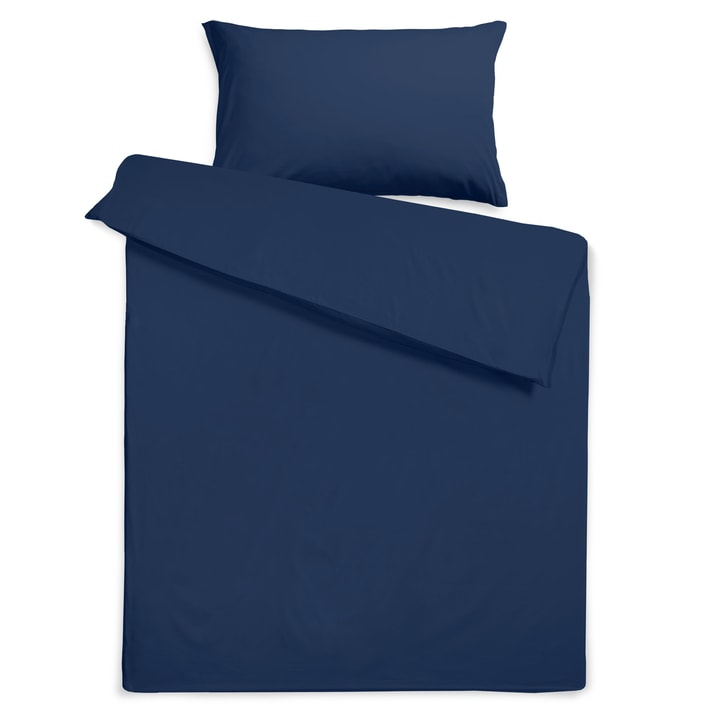KOS Taie d'oreiller satin 376076710643 Dimensions L: 65.0 cm x L: 65.0 cm Couleur Medieval blue Photo no. 1