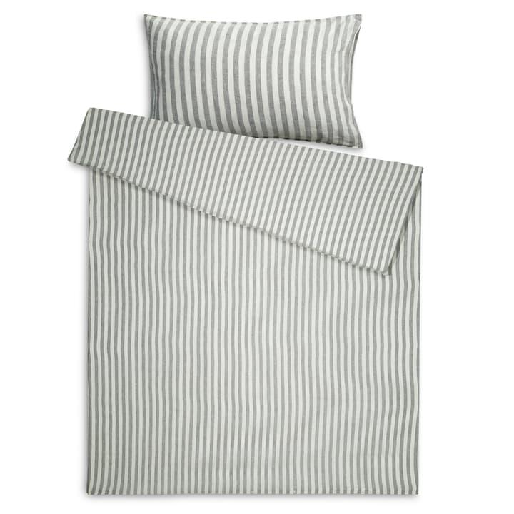 LUKIDA Federa per cuscino lino 376026368403 Dimensioni L: 100.0 cm x L: 65.0 cm Colore Grigio a righe N. figura 1