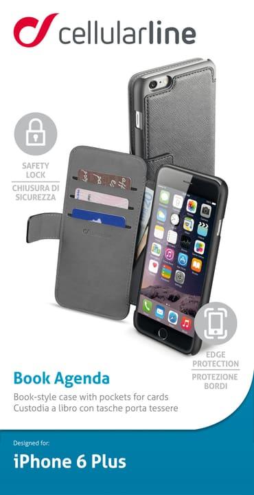 Leder-Effekt-Schutzhülle im book style mit kartensteckfächern  für iPhone 6 plus Cellular Line 621486600000 Bild Nr. 1