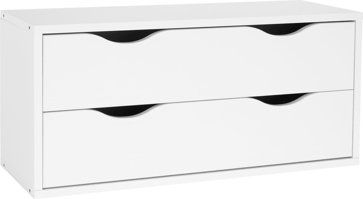 HAILEY Element mit 2 Schubladen 407547500000 Grösse B: 80.6 cm x T: 29.5 cm x H: 37.0 cm Farbe Weiss Bild Nr. 1