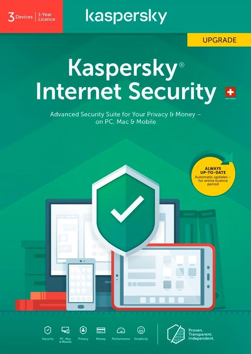 Internet Security (3 PC) Upgrade [PC/Mac/Android] (D/F/I) Kaspersky 785300146381 Photo no. 1