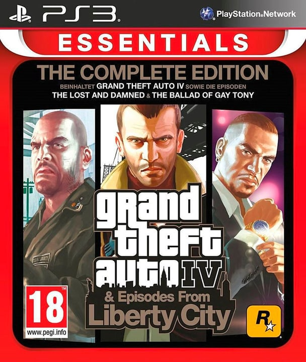 PS3 - Essentials: GTA IV - Complete Edition Box 785300129611 Photo no. 1