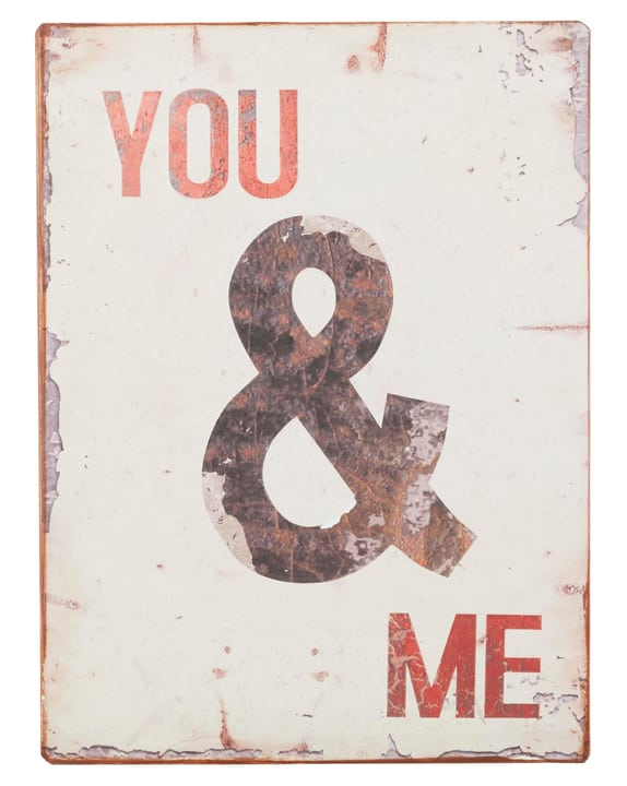 YOU & ME Panneau décoratif 431821500000 Dimensions L: 26.0 cm x H: 35.0 cm Photo no. 1