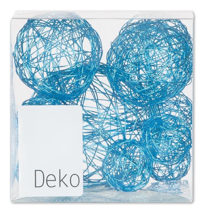 Bocce in filo decorative, 10 pz. Do it + Garden 656123200000 Colore Azzurro Taglio L: 10.0 cm x P: 10.0 cm x A: 10.0 cm N. figura 1