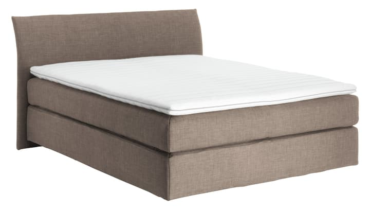 NAVIER Lit Boxspring 403483100000 Couleur Pierre Dimensions L: 160.0 cm x P: 200.0 cm Photo no. 1