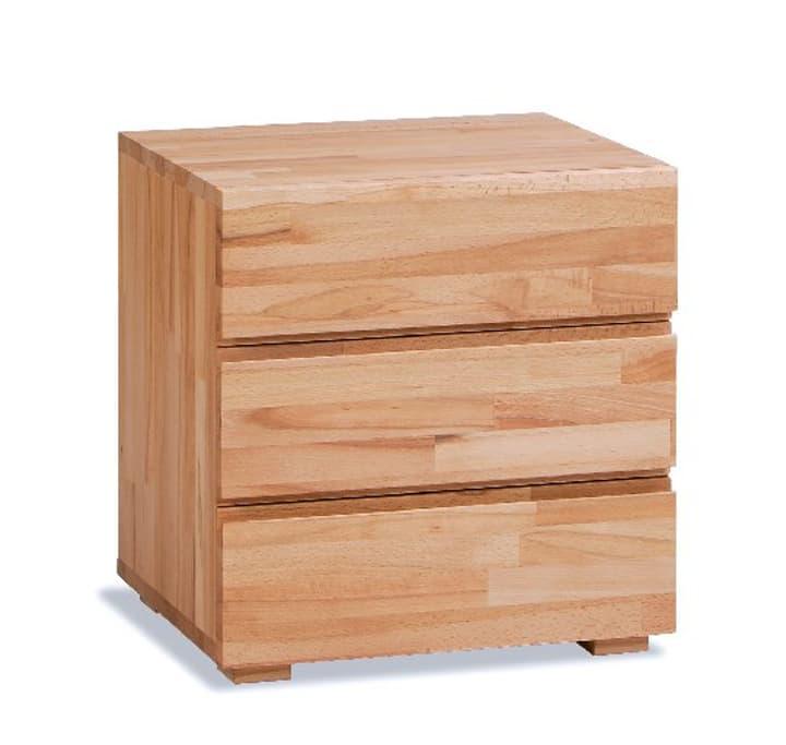 TREVA Table de chevet HASENA 403179585012 Dimensions L: 48.0 cm x P: 40.0 cm x H: 51.0 cm Couleur Cœur de hêtre Photo no. 1